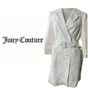 Juicy Couture Off White Coat. Sz 6